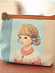 Retro Girl Light Blue PU kůže Sladká Lolita Peněženka