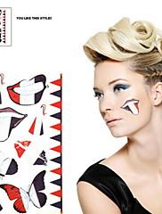 2ks Francie Světový pohár Vodotěsné tetování těla Dočasné Glitter Samolepky