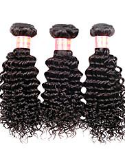 14 Inch Velké 5A brazilské Virgin Lidské vlasy Nature Black Barva Kinky kudrnaté vlasy rozšíření