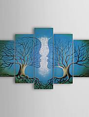 ručně malované abstraktní olej s rozprostřeným rámem - sada 5