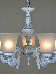 V evropském stylu Retro 5 Light lustr bílý odstín