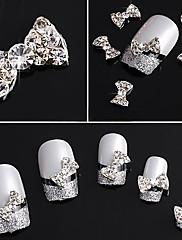 20ks 3D Rhinestone Studded Silver Nail Art Dekorace