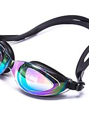 スイミングゴーグル 男女兼用 曇り止め / 耐摩耗性 / 防水 / サイズが調整できます. / 紫外線カット / 飛散防止 / 滑り止めストラップ シリカゲル PC / UV ホワイト / ブラック ホワイト / レッド / ブラック / ブルー / パープル