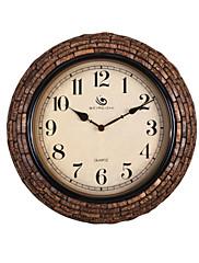 """15.2 """"H Rerto styl Brick Pattern Bronze Polyrein Nástěnné hodiny"""