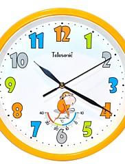 Telesonic™10」のH漫画のスタイルのモンキー温度計地上走行ミュート壁掛け時計