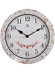 """18.4 """"H elegantním venkovském stylu Floral Pattern Polyrein Nástěnné hodiny"""