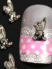 10ks 3d kutilství králík slitina nail art dekorace