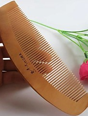 natual 16x5cmカーブバックコームデザイン·桃木製の櫛