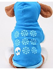 Autumn and Winter Cute Cotton Casual Hooded Pet Clothing for Dogs (Blue Assorted Size)