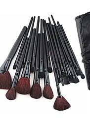 24ks make-up štětec s bezplatným koženého váčku - profesionální a perfektní styl