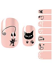 yemannvyou®14pcs cartoon cat módní nail art samolepky