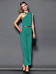 肩ベルトで自分の道徳性を養う傾いyimilan®女性のファッションセクシーなジャンプスーツ