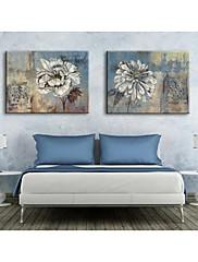 osobní plátně retro květiny 35x50cm 40x60cm 50x70cm zarámovaný malířské plátno sada 2