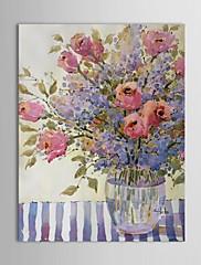 mano de pintura al óleo pintada arreglo floral por joyce Hicks con el marco estirado