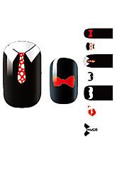 yemannvyou®14pcs karikatura tie módní nail art samolepky