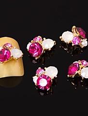 5pcs 3d Rose Red cirkona legure nail art ukrasa nail art nakit