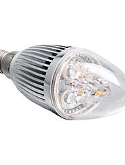 調光可能なE14 4ワット360LM 3000  -  3500Kウォーム白色光がキャンドル電球(220Vを導いた