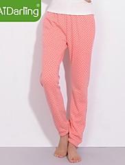 女性の冬の暖かい綿の絨毛wavepointズボン家庭用パンツパジャマのズボンをaidarling