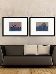 Stampa artistica con cornice, landsacpe Sydney Opera House Duomo di Milano da naxart set di 2