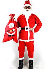 Santa Claus Pánské Vánoční kostým s vousy (pro výšku 170 - 180 cm)