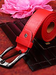 červená pu belt