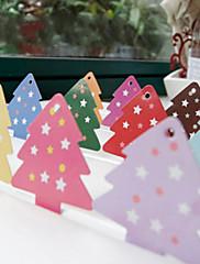 Vánoční barevné stromy křídový papír visí (Smíšený Barva) -Set z 12