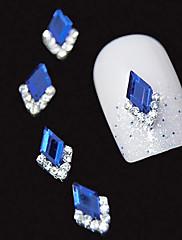 10個入り青マーキーズの3DラインストーンのDIY合金アクセサリーネイルアートの装飾