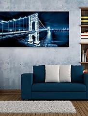 電子home®は、LEDキャンバスプリントアートブリッジフラッシュ効果を率い伸ばし