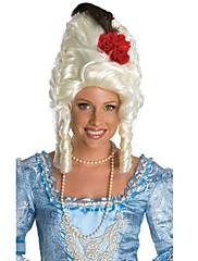 赤いバラのメアリー白いかつら巻き毛をマスカレード