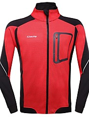男性の冬の熱フリース長袖サイクリングジャージジャケットoutto