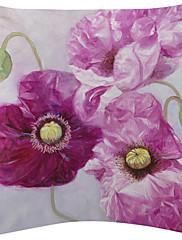 2美しい水彩花柄のベルベットの装飾的な枕カバーのセット