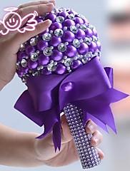 elegante hecha a mano de lujo del cristal del Rhinestone de la mano de flores holding novia ramos accessaries novia de la boda (más colores)