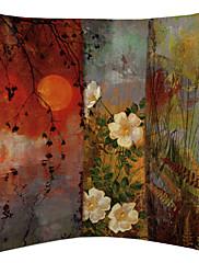 Pun mjesec i lijepa cvijet baršuna dekorativne jastučnicu