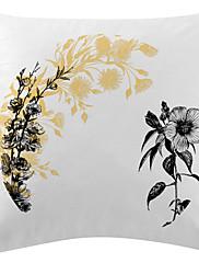 crne cvijeće i žute sjene baršun dekorativne jastučnicu