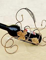 ヴィンテージデザインスチール製のワインラックホルダーバーボトル棚バー装飾ディスプレイランダムな色