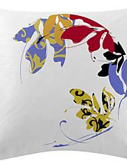 cvjetni bijela ploča baršun dekorativne jastučnicu