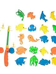 1キット20枚の海の動物の魚2釣りロッド便利な赤ちゃんのおもちゃは、発達のおもちゃを設定