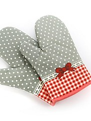 1PCS素敵な綿のオーブン手袋、耐性電子レンジ、オーブン、キッチン手袋を加熱し