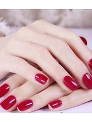 24pc krátký tvar barevné nehty nail art tipy no.195