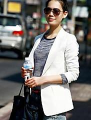 ženská práce středně dlouhý rukáv pravidelné sako (polyester)