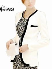 NUO WEI SI® Women'S Fashion  Blazer with Piping Detail Long Sleeve  Coat