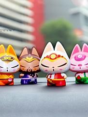 Akční figurky a plyšáci Nové hračky Zábavné Kočka Silica gel Ivory / Bílá / Orange Pro chlapce / Pro dívky