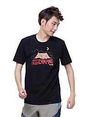 男性用 - 高通気性/速乾性 - キャンピング&ハイキング/フィットネス/レーシング/レジャースポーツ - トップス/Tシャツ ( ブラック/ブラウン ) - 半袖