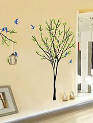 samolepky na zeď na stěnu ve stylu ptáci a ptačí klece na stromě pvc samolepky na zeď
