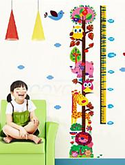žirafa růst graf samolepky na zeď pro dětský pokoj zooyoo6335 děti obtisky na zvířatech Wall Art dívky dárek k narozeninám