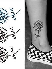 teplé slunečnice tetování samolepky dočasné tetování (1 ks)