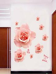 samolepky na zeď lepicí obrazy na stěnu ve stylu romantické růžové růže květ PVC samolepky na zeď