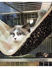ネコ ベッド ペット用 毛布 つや消しブラック 折り畳み式 ソフト ヒョウ柄