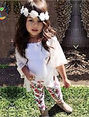 Dívka je Květinový Celoročně Sady oblečení Směs bavlny