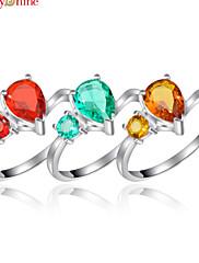 Prsteny s kamenem Kapka Módní Oranžová Červená Zelená Šperky Párty 1ks